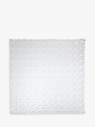 John Lewis & Partners Pebbles Square Shower Mat, Clear