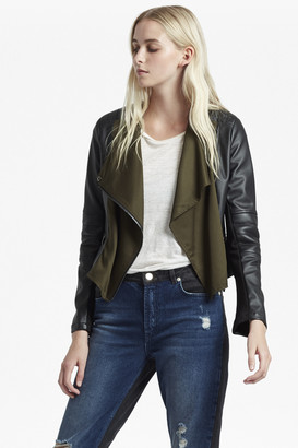 French Connection Filomena Draped Front Biker Jacket