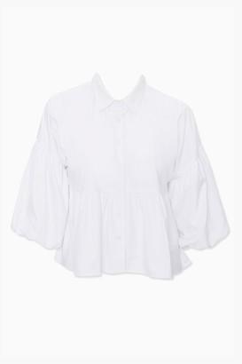 Forever 21 Plus Size Gathered-Sleeve Shirt
