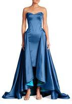 Zac Posen Strapless Hi-Lo Gown