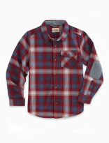 Lucky Brand Long Sleeve Twill Plaid Shirt With Snow Wash