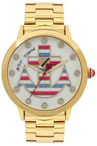 Betsey Johnson Red White And Blue Anchor Boxed Watch