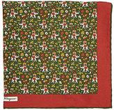Salvatore Ferragamo Men's Elephant & Carriage Pocket Square-DARK GREEN
