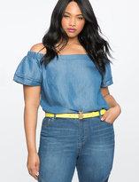 ELOQUII Plus Size Pineapple Buckle Belt