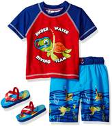Wippette Boys' Toddler Girls' Turtle Rash Guard Set