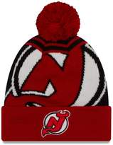 "New Era New Jersey Devils NHL ""Logo Whiz 2"" Cuffed Knit Hat with Pom"