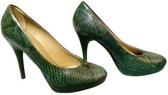 Bally Green Python Heels