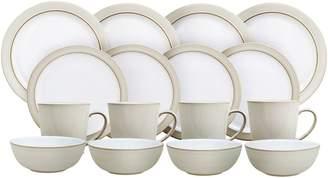 Denby Natural Canvas 16-Piece Stoneware Dinnerware Set