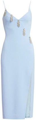 David Koma Crystal Chain Motif Pencil Dress