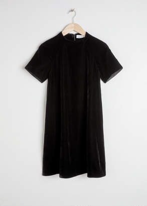 And other stories Velvet T-Shirt Dress