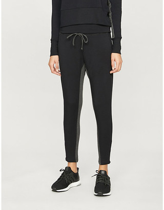 Beyond Yoga Swear high-rise stretch-jersey jogging bottoms