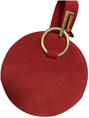 Tara Zadeh Red Suede Handbags