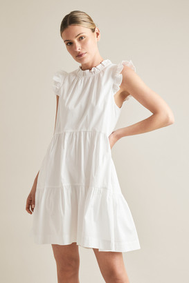Seed Heritage Ruffle Sleeve Cotton Dress