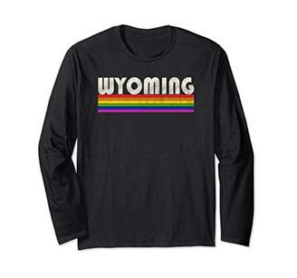 Vintage 80's Style Wyoming Gay Pride Month Long Sleeve T-Shirt