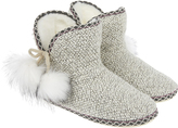Accessorize Esther Patchwork Slipper Boots