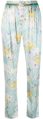Forte Forte Cat Print Tapered Trousers