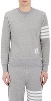 Thom Browne Men's Block-Striped Sweatshirt-LIGHT GREY
