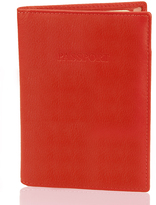 Visconti Red Leather Passport Wallet