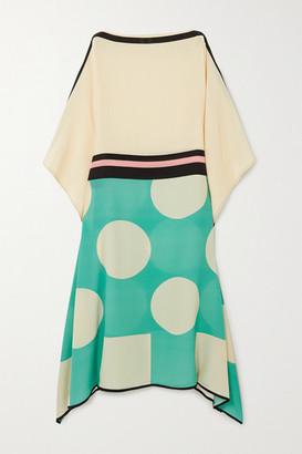 LOUISA PARRIS Cecile Printed Silk Crepe De Chine Maxi Dress - Green
