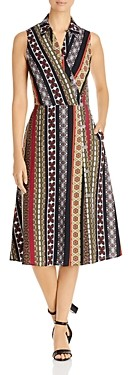 T Tahari Collared Wrap Dress