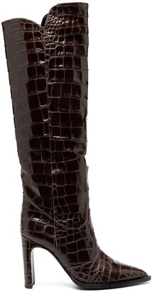 Kate Cate Kate croc effect boots
