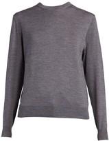 Balenciaga Wool Logo Back Crewneck Sweater