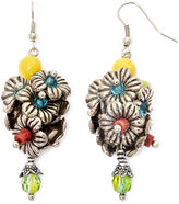 JCPenney Aris by Treska Multicolor Stone Flower Cluster Earrings