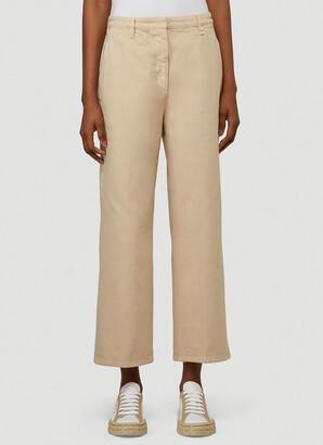 Prada Cropped Wide-Leg Trousers