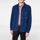 Paul Smith Men's Indigo-Dyed Seersucker Chore Jacket