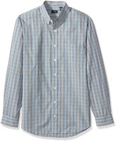 Arrow Men's Big-tall Big and Tall Long Sleeve Hamilton Poplin Multi Gingham Shirt