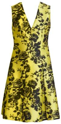 Erdem Yoko Sleeveless Floral A-Line Jacquard Dress