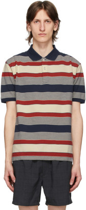 Beams Navy Pique Border Polo