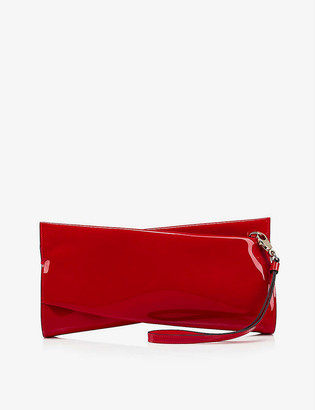 Christian Louboutin Loubitwist patent leather clutch bag