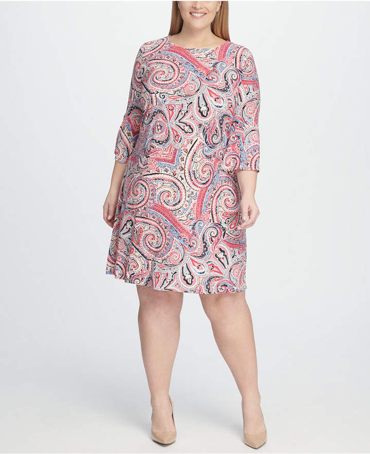 e45dc3294 Plus Size Bell Sleeve Dress - ShopStyle