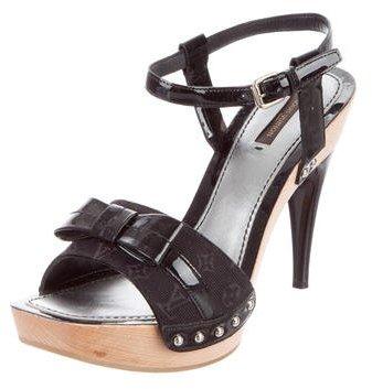 Louis Vuitton Monogram Ankle-Strap Sandals