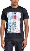 MINTED TRAVEL Men's French Kiss Regular Fit Round Collar Short Sleeve T-Shirt