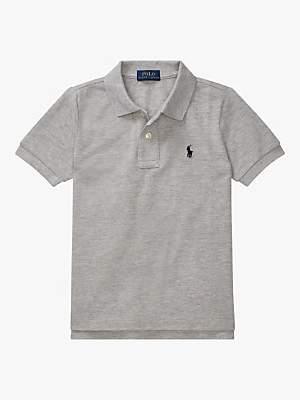 Ralph Lauren Polo Boys' Mesh Polo Shirt, Grey