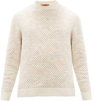 Missoni Waffle-knit Cotton-blend Sweater - Mens - Cream Multi