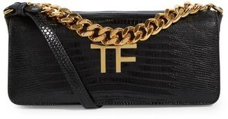 Tom Ford Small Lizard Baguette Clutch Bag