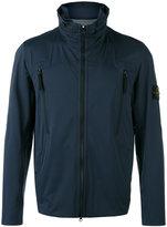 Stone Island Blue) - Light Soft Shell jacket - men - Polyester/Polyurethane Resin - S