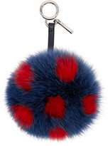 Fendi Navy Pompom Keychain