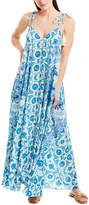 Rococo Sand Oriental Labyrinth Silk Maxi Dress