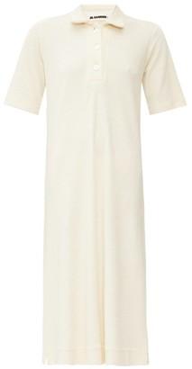 Jil Sander Point Collar Cotton-terry Shirtdress - Womens - Ivory