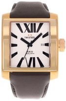 TW Steel CEO Goliath CE3008 Rose Gold PVD Stainless Steel & Leather Quartz 42mm Men