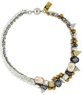 Assad Mounser Multistrand Crystal and Stud Necklace