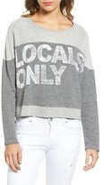 Sundry Women's Locals Only Crop Pullover