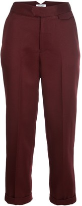 Nomia cropped tapered-leg trousers