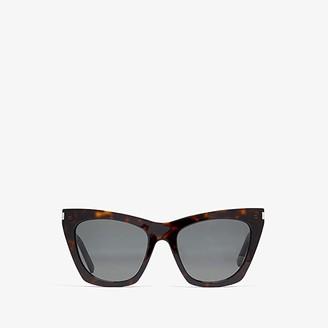 Saint Laurent SL 214 Kate (Dark Havana/Grey) Fashion Sunglasses