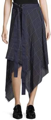 Public School Danen Plaid Asymmetric Skirt