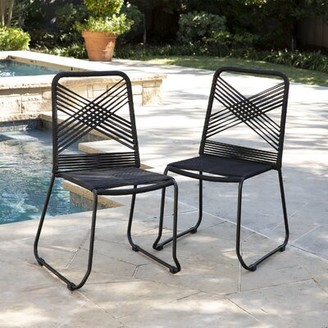 Pugmire Stacking Patio Dining Chair Brayden Studio Color: Black